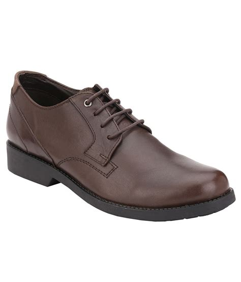 delize brown genuine leather formal shoes price in india