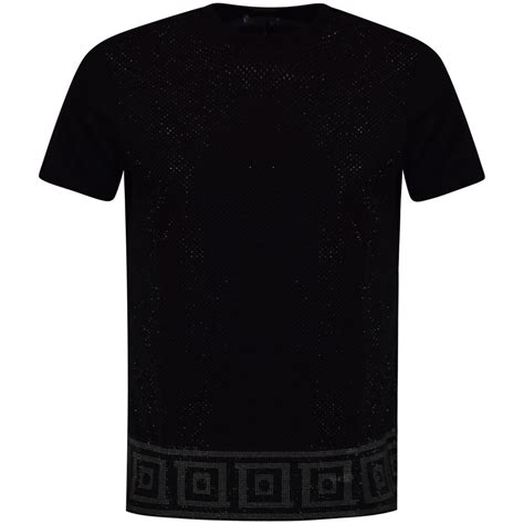 versace pattern t shirt versace collection versace collection black studded
