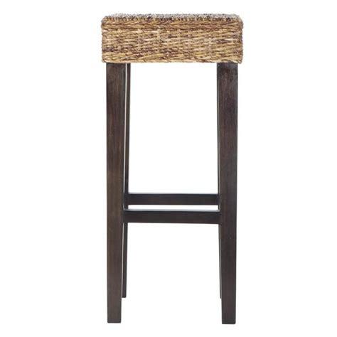 mahogany bar stool abaca and solid mahogany bar stool rangoon maisons du monde