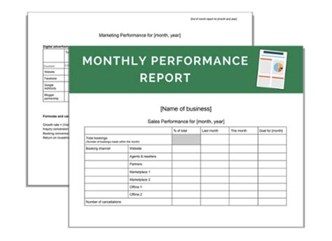 Marketing Performance Report Template How To Track Your Monthly Sales And Marketing Performance