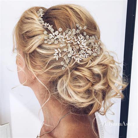 romantic wedding updos  medium hair wedding