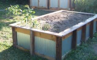 corrugated steel raised bed gardening modern