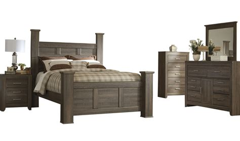 ashley furniture juararo pc bedroom set  queen poster bed  classy home