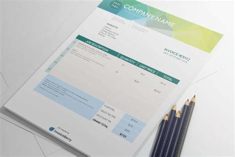 cool invoice template free new pdf invoice templates invoiceberry
