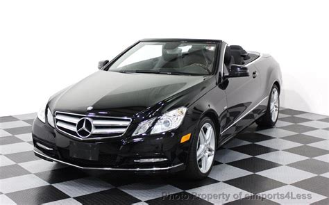 convertible mercedes black 2012 used mercedes certified e350 convertible amg