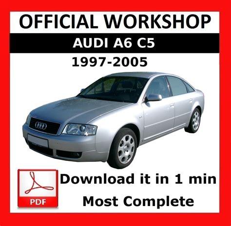 Gt Gt Official Workshop Manual Service Repair Audi A6 C5 1997