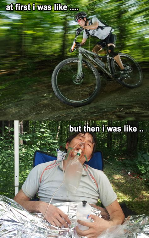 Bike Crash Meme - funny mountain bike