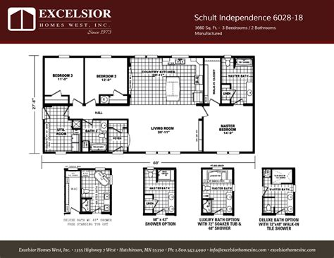 Modular Home Floor Plans Illinois by Schult Independence 18 Home Plan Excelsior Homes West Inc