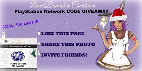 Psn Giveaway - psn code giveaway by lunabunneh on deviantart