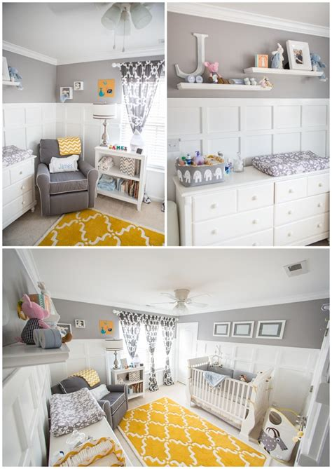 yellow and gray baby room sweet baby nursery project nursery