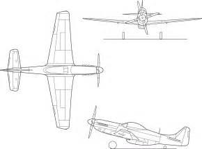file american p 51d mustang line drawing png