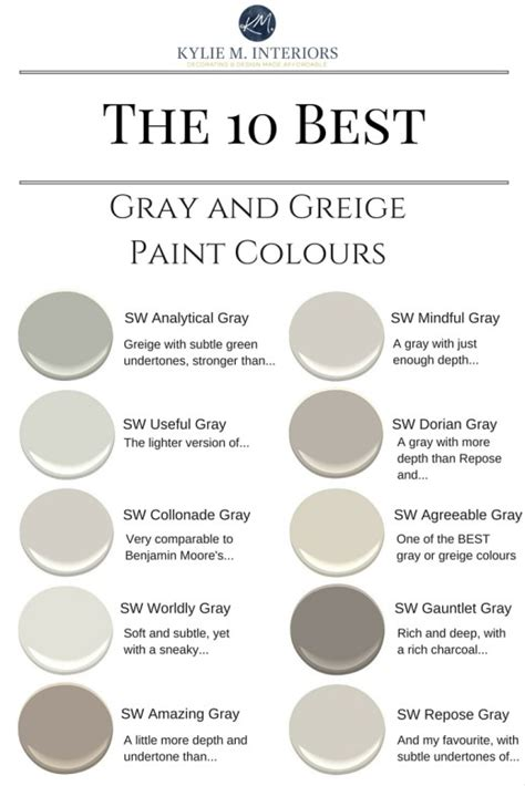 top 10 greige paint colors for walls by jenna burger brown hairs