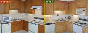Resurfaced Kitchen Cabinets Before And After Kitchen Cabinet Refacing Pictures Before After Roselawnlutheran