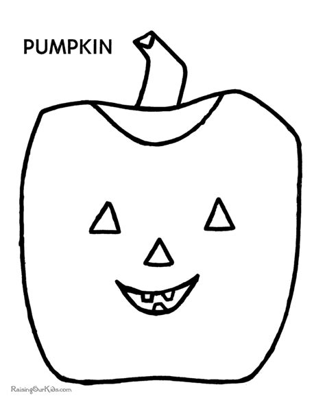 preschool halloween pumpkin coloring pages 008
