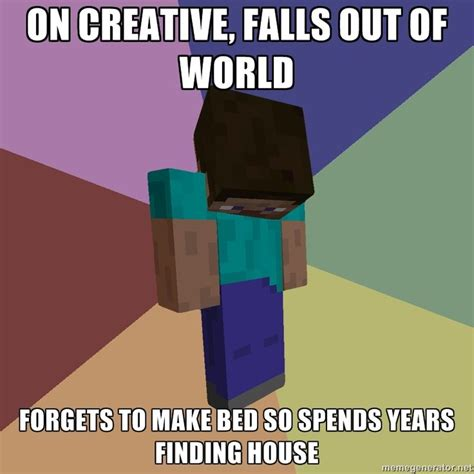 Memes Minecraft - minecraft meme for the little man pinterest