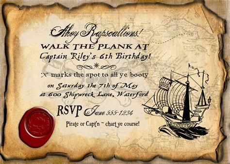 9 Best Images Of Free Printable Pirate Templates Pirate Birthday Invitation Template Pirate Free Pirate Invitation Template