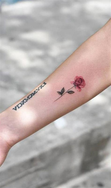 small tattoo roses 30 simple and small flower tattoos ideas for