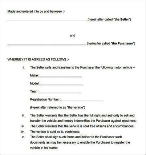 voetstoots sale agreement template voetstoots sale agreement template emsec info