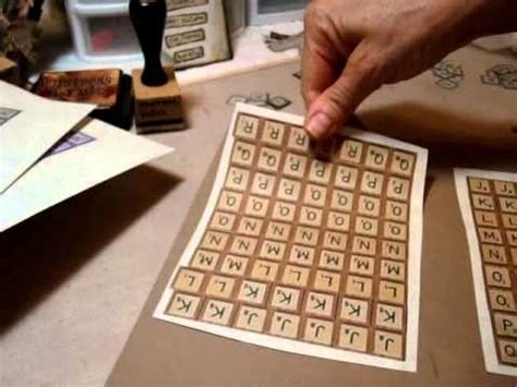 how to make scrabble make your own scrabble letter tiles
