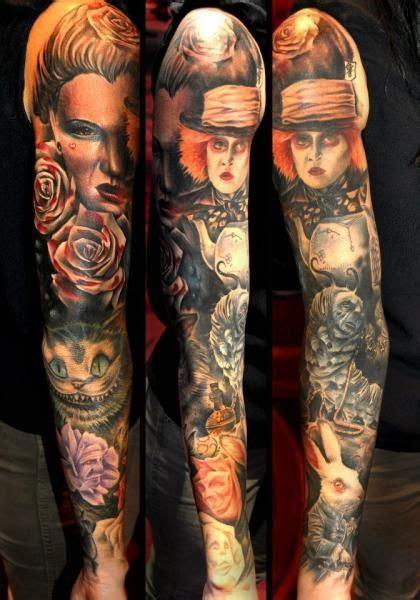tim burton tattoo sleeve tim burton s is the inspiration for this sleeve by