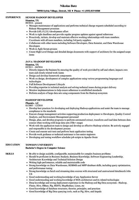 Hadoop Developer Resume by Hadoop Developer Resume Sles Velvet