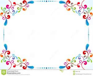 colorful border abstract colorful floral border royalty free stock image
