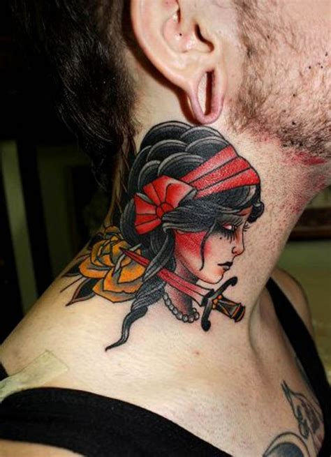 tattoo neck traditional 69 most attractive neck tattoo designs mens craze