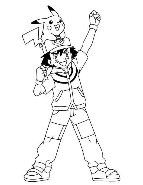 pokemon coloring pages ash vitlt com