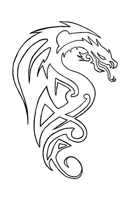 dragon tattoo outline designs tattoos page 72