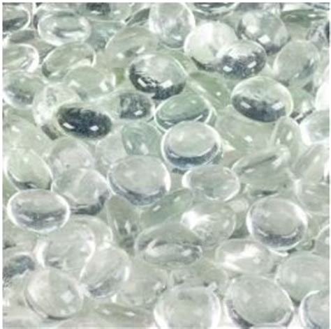 Marbles For Vases by Dashington 174 Flat Clear Marbles Pebbles 5