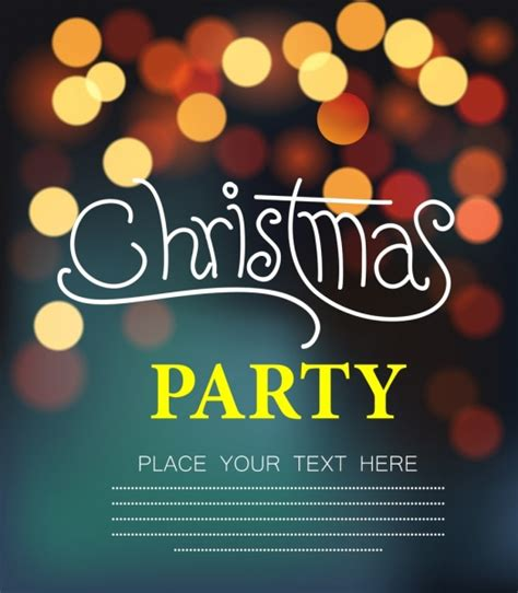 christmas party banner bokeh decoration free vector in adobe illustrator ai ai format encapsulated postscript eps eps format format for