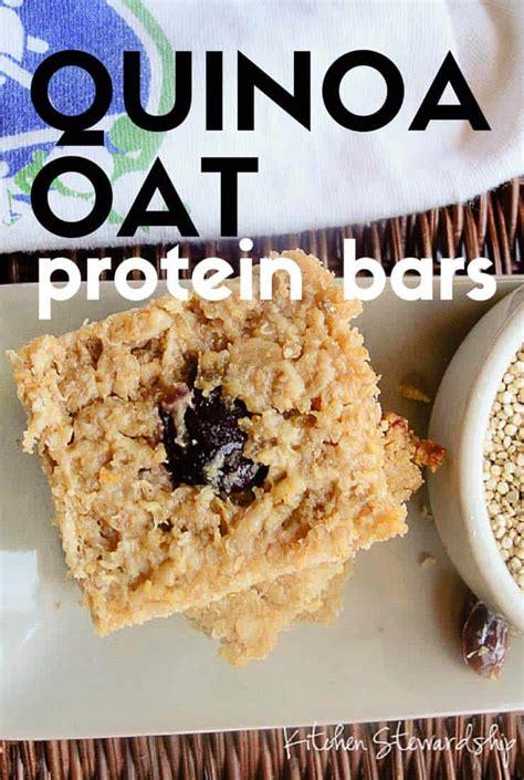 protein in quinoa quinoa oat protein bar recipe