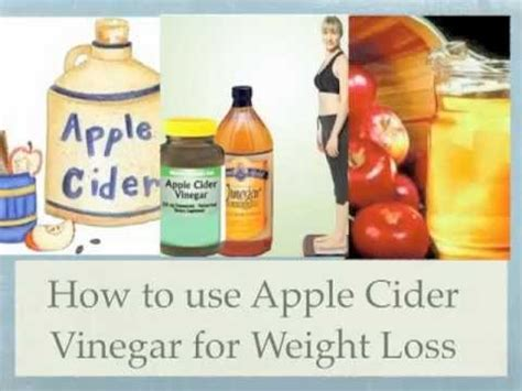 apple cider vinegar  weight loss youtube