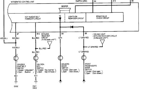 2000 civic door wiring diagram 2000 civic door lock wiring