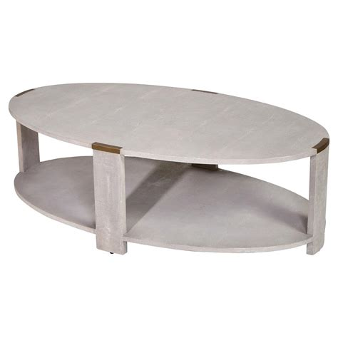darren modern classic faux shagreen coffee table