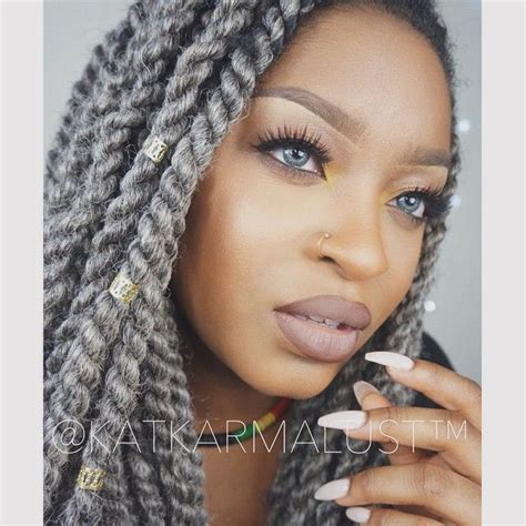 grey hair braid extensions 963 best hair images on pinterest natural hair black