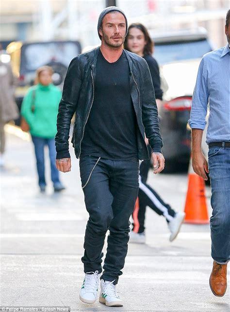 Beckhams 16 M Italian Tv Deal by David Beckham Arrives At Jfk Airport And Cuts A Rugged