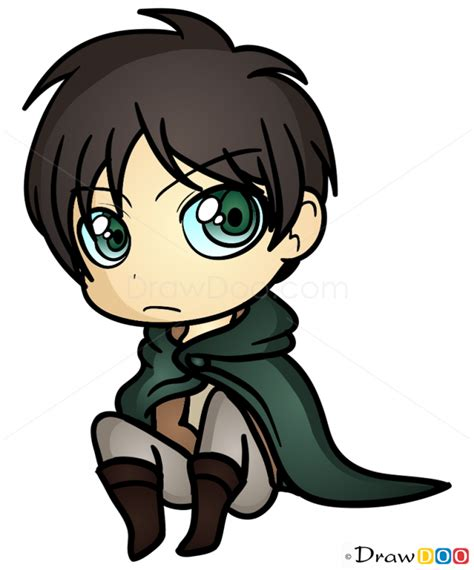 how to draw eren chibi
