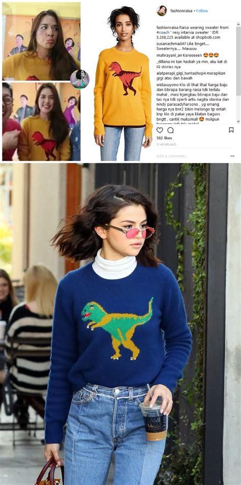 Harga Selena Gomez raisa kenakan sweater ala selena gomez harganya bikin