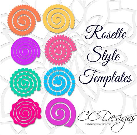 rolled paper flower pattern paper rolled rosette templates diy paper flowers
