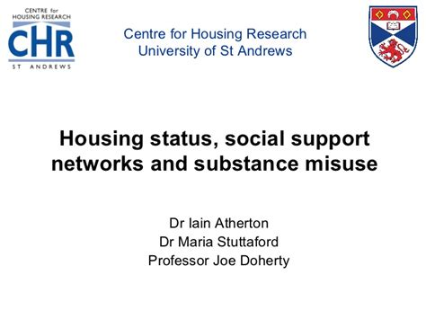 housing status implications of housing status and informal networks for homeless str