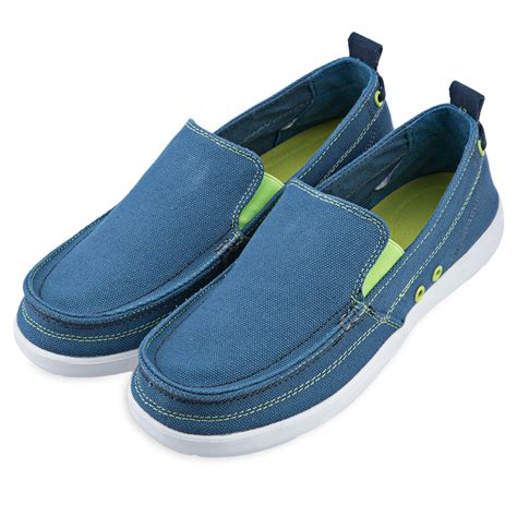 walking flat shoes fashion mens canvas slip on loafers moccasin casual flats