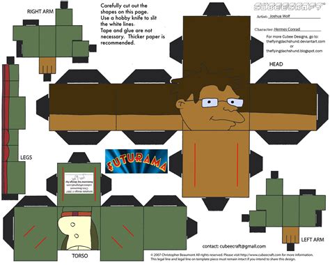 Futurama Papercraft - fut2 hermes conrad cubee by theflyingdachshund on deviantart