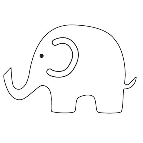 elephant cut out template elephant printables templates elephant pictures baby