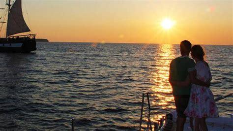 catamaran cruise with sunset santorini ocean voyager 74 sailing in santorini sunset tour on the