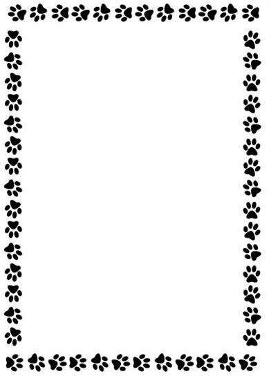 Paw Print Page Border Clip by Tiger Paw Print Clip Clipart Panda Free Clipart Images