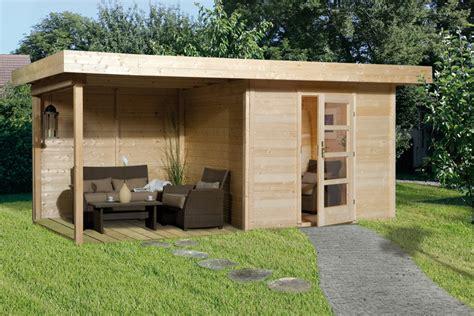 Carport Holz Gebraucht by Gartenhaus Flachdach Lounge Gr 246 223 E 1 Weka Typ 172 Mit