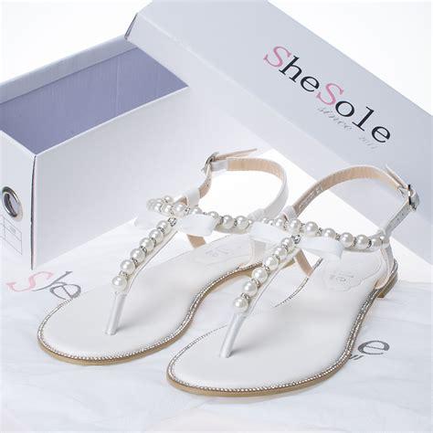 wedding shoes flats sandals shesole wedding shoes flat gladiator sandals for ebay