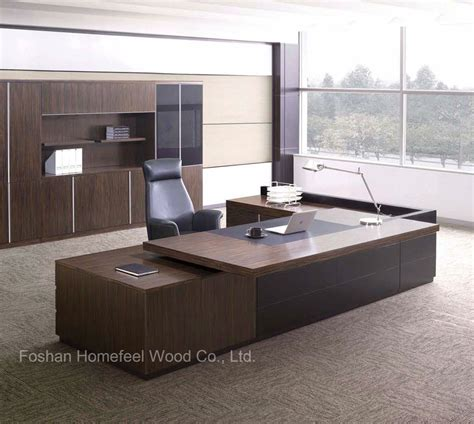 china modern wooden office furniture desk  sale executive ceo office table hf mbhd