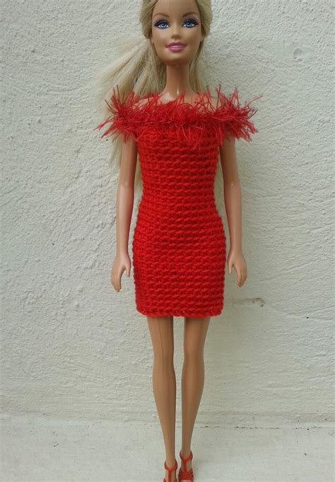 pattern clothes for barbie lyn s dolls clothes barbie in red crochet dresses free